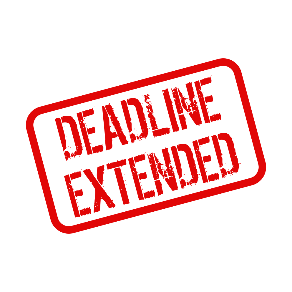 by popular demand EXTENDED DEADLINE!